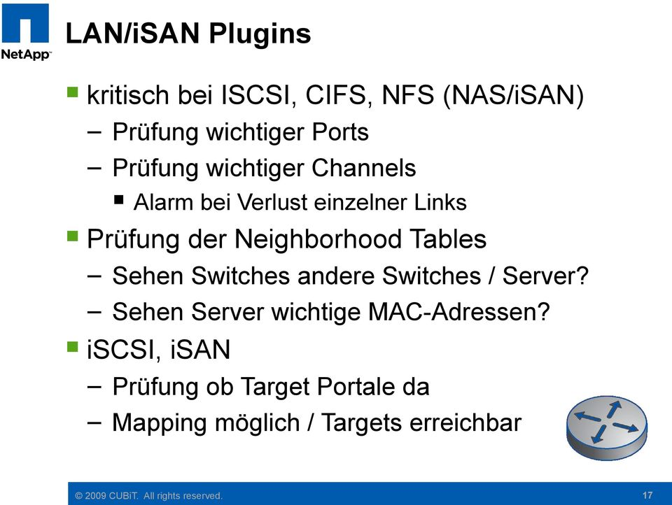 Neighborhood Tables Sehen Switches andere Switches / Server?