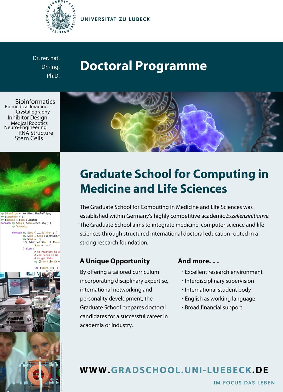 The Graduate School aims to integrate medicine, computer science and life sciences through structured international doctoral education rooted in a strong research foundation.