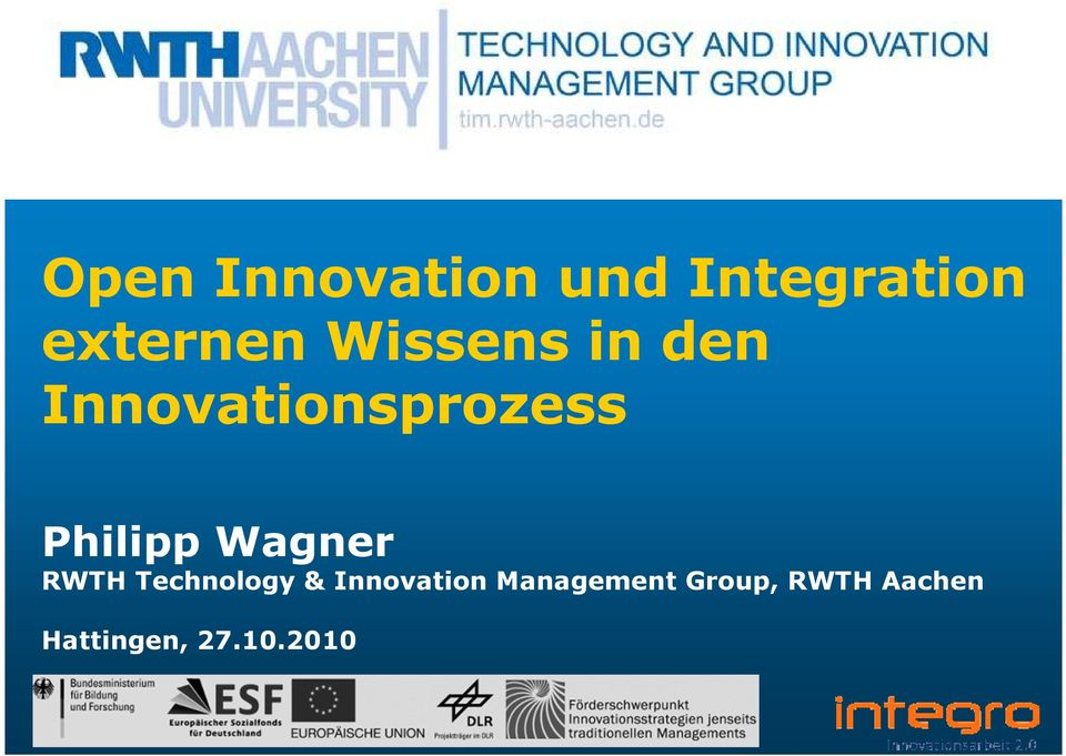 Wagner RWTH Technology & Innovation