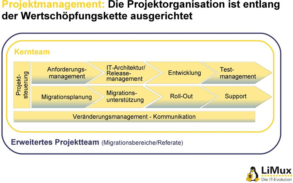 Migrationsplanung Entwicklung Roll-Out IT-Architektur/ Releasemanagement