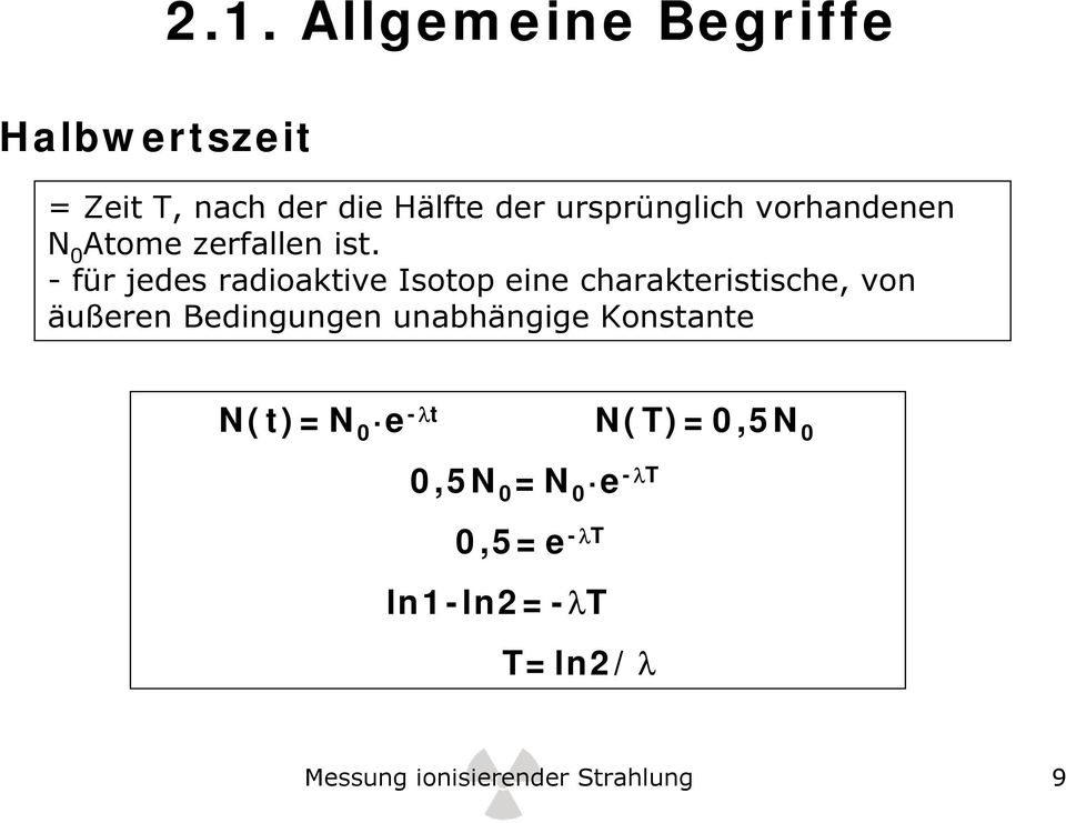 Messung ionisierender Strahlung - PDF
