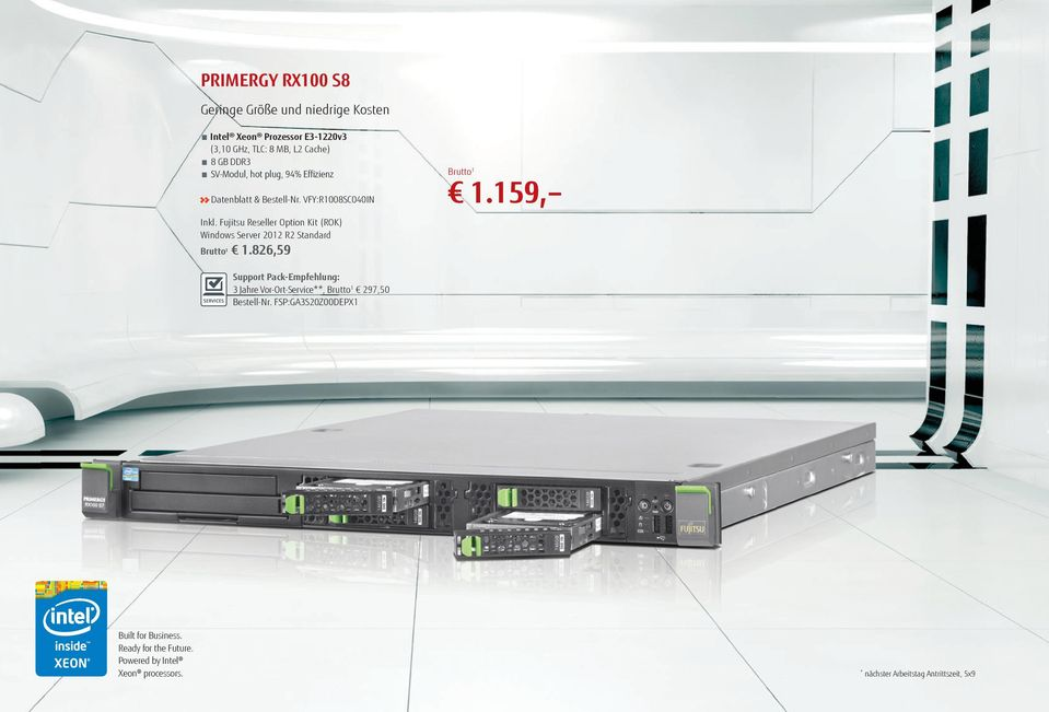 Fujitsu Reseller Option Kit (ROK) Windows Server 2012 R2 Standard 1.826,59 1.