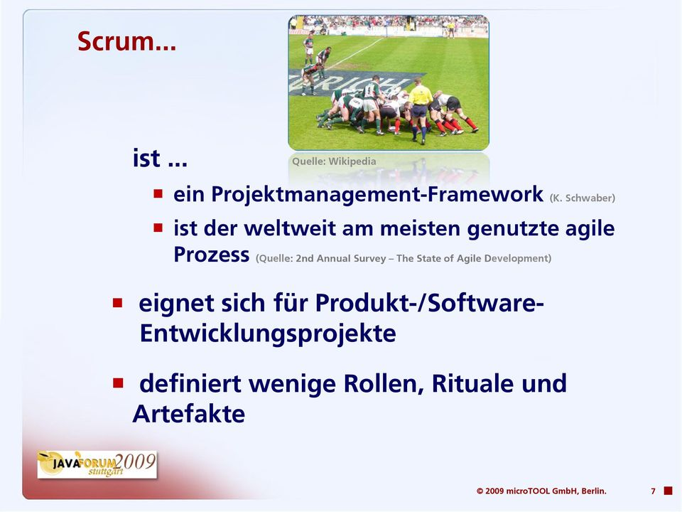 Survey The State of Agile Development) eignet sich für Produkt-/Software-