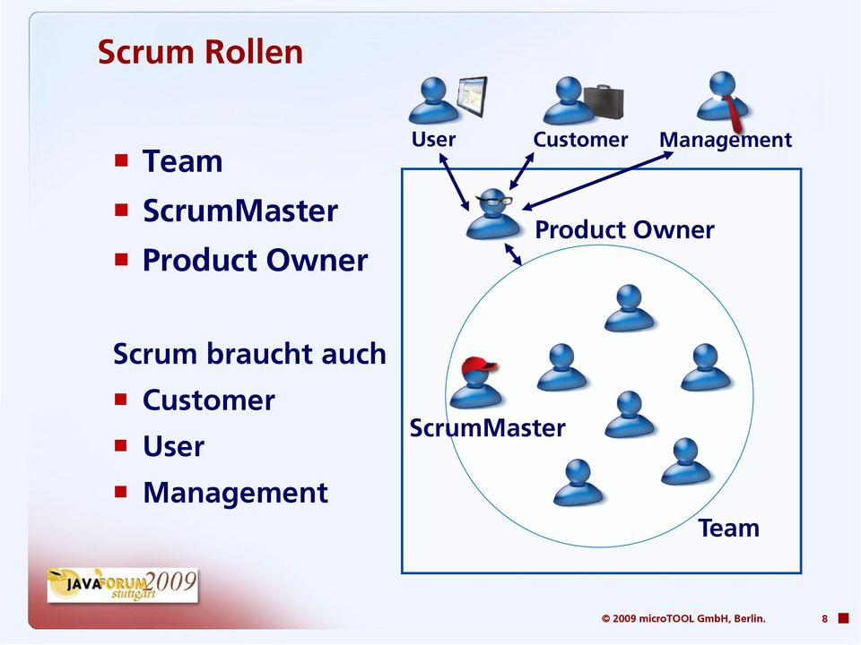 Scrum braucht auch Customer User Management