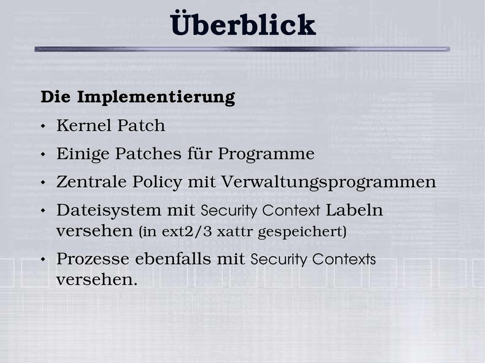 Dateisystem mit Security Context Labeln versehen (in ext2/3