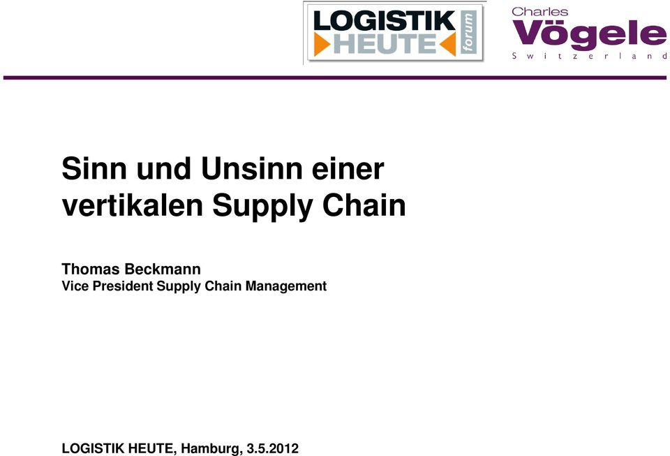 President Supply Chain Management