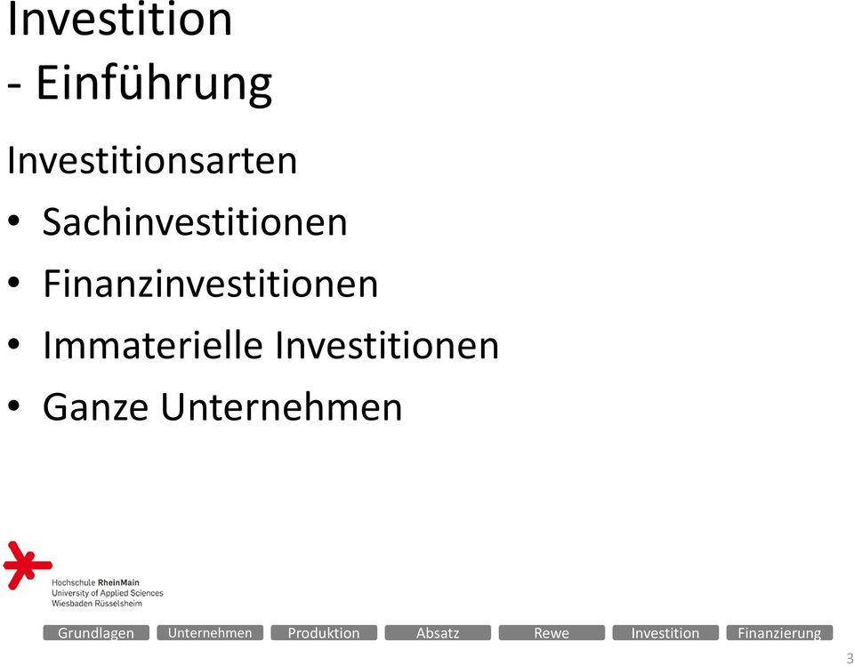 Sachinvestitionen