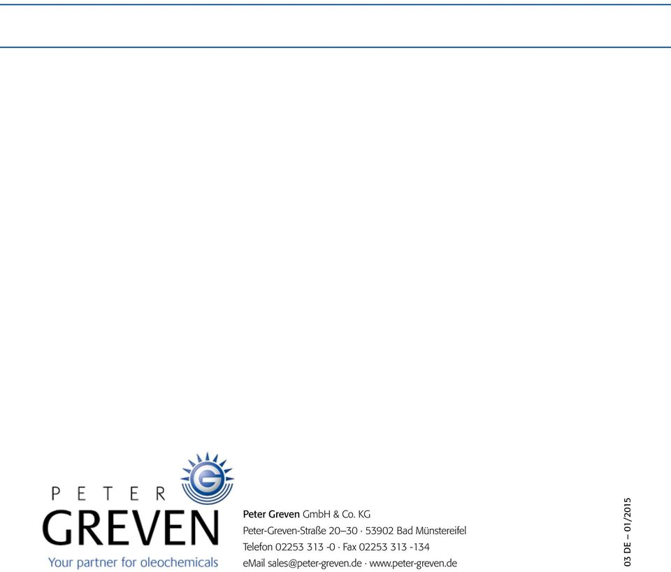PETER GREVEN Your partner for food/feed, pharma & cosmetic additives ...