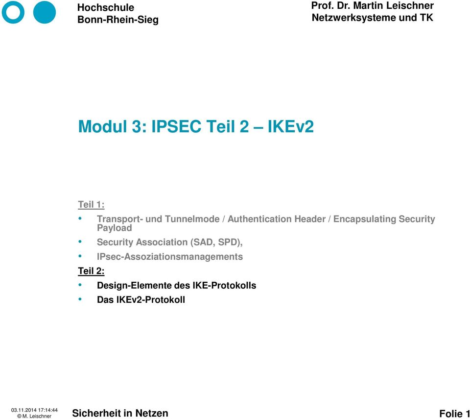 Association (SAD, SPD), IPsec-Assoziationsmanagements Teil 2: