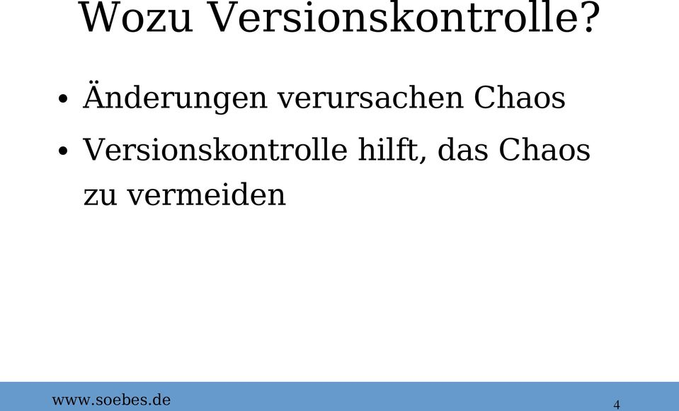 Chaos Versionskontrolle