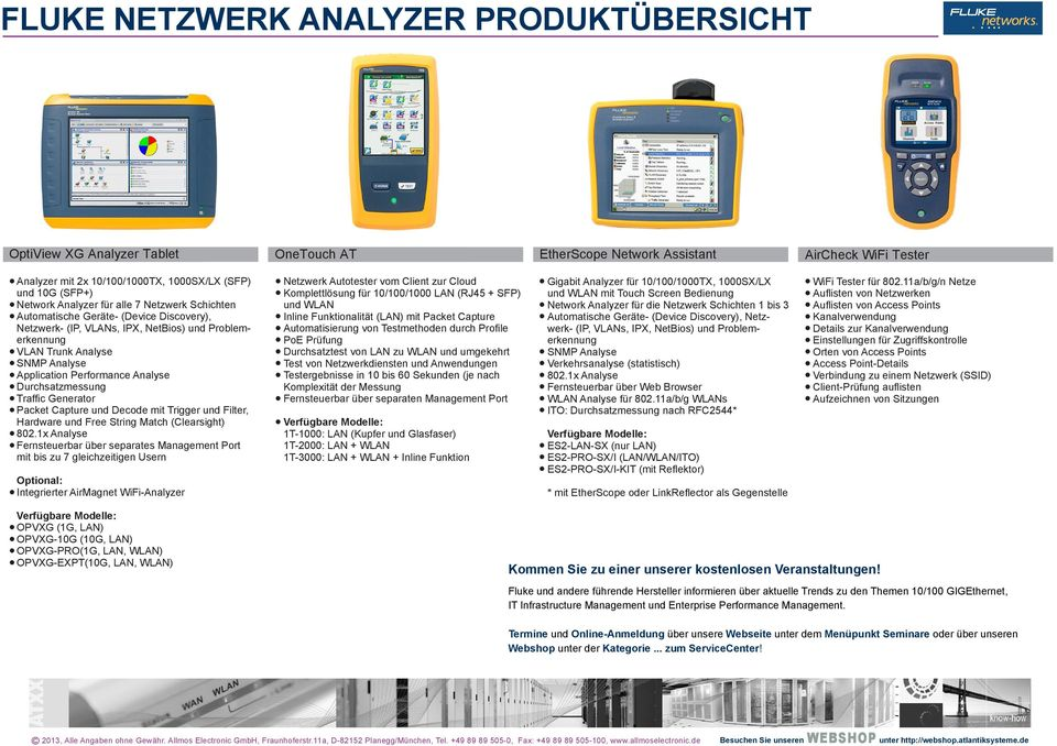 fluke netzwerk analyzer produkt bersicht pdf. Black Bedroom Furniture Sets. Home Design Ideas