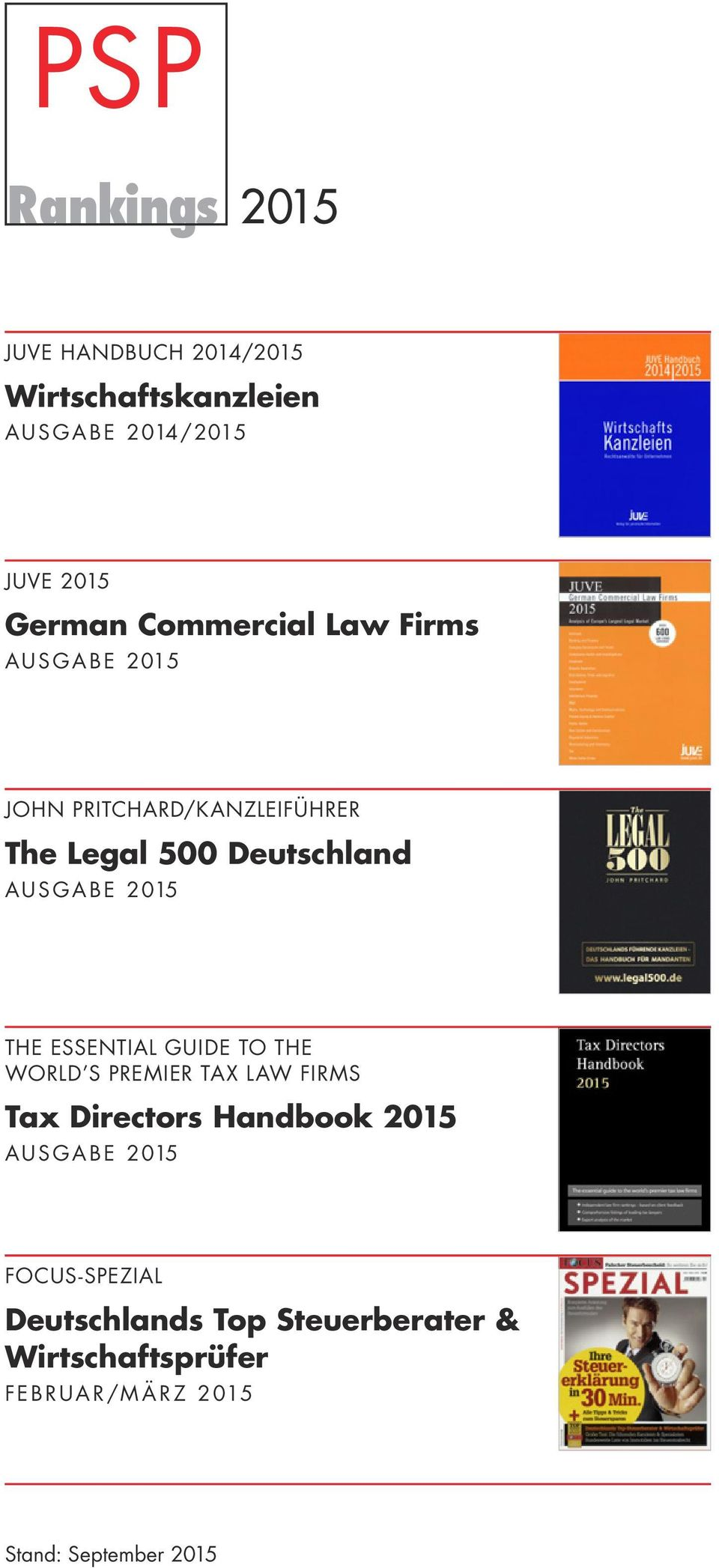 2 015 THE ESSENTIAL GUIDE TO THE WORLD S PREMIER TAX LAW FIRMS Tax Directors Handbook 2015 A U S G A B E 2