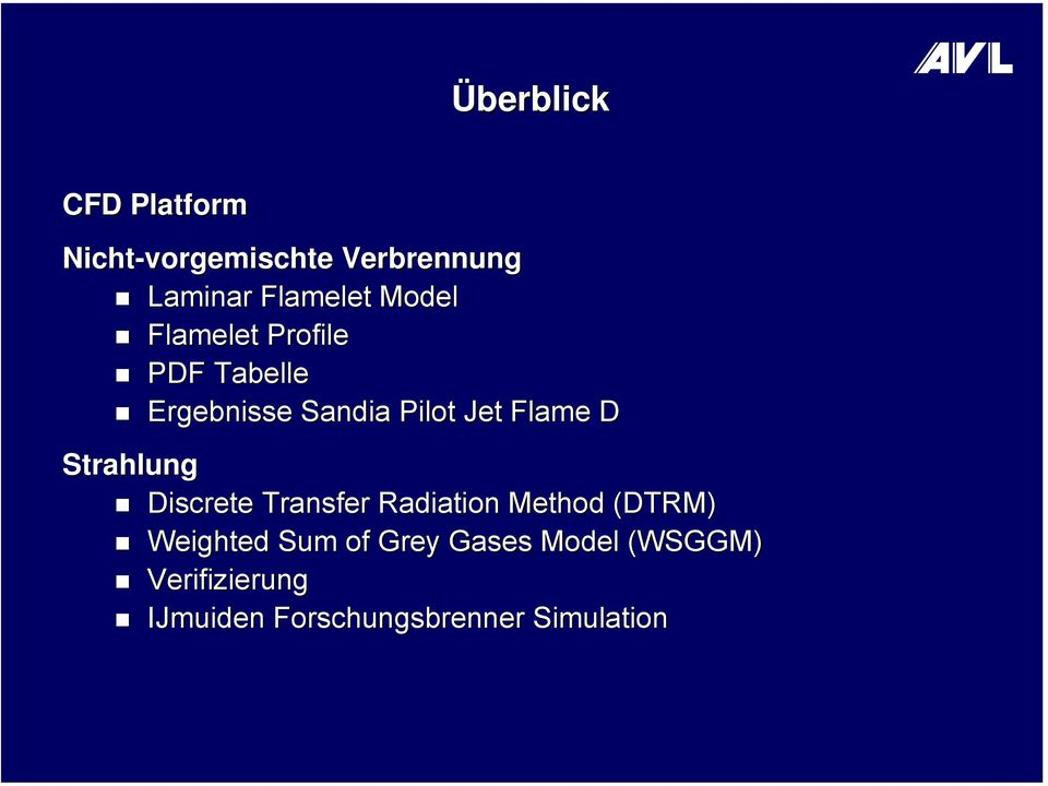 Strahlung Discrete Transfer Radiation Method (DTRM) Weighted Sum of