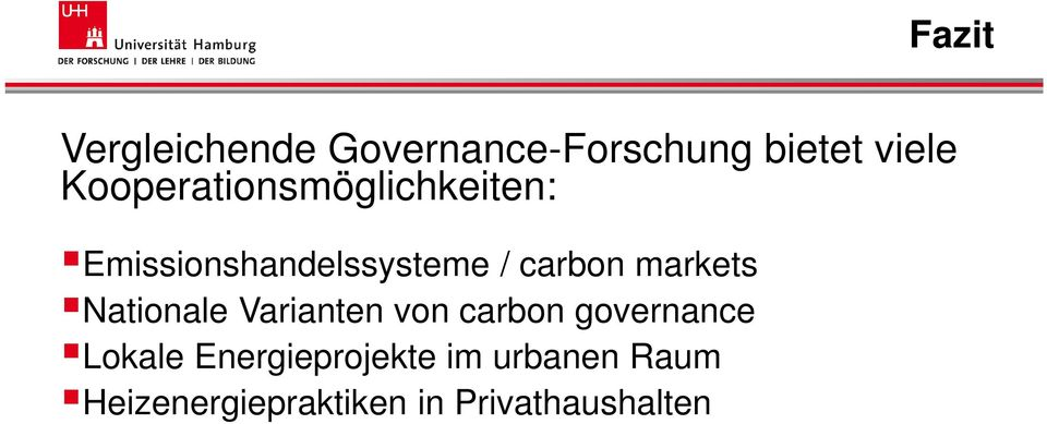 markets Nationale Varianten von carbon governance Lokale