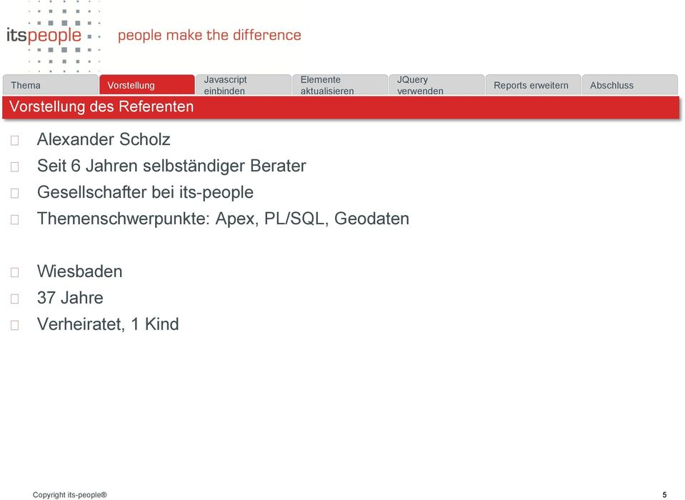 its-people Themenschwerpunkte: Apex, PL/SQL,