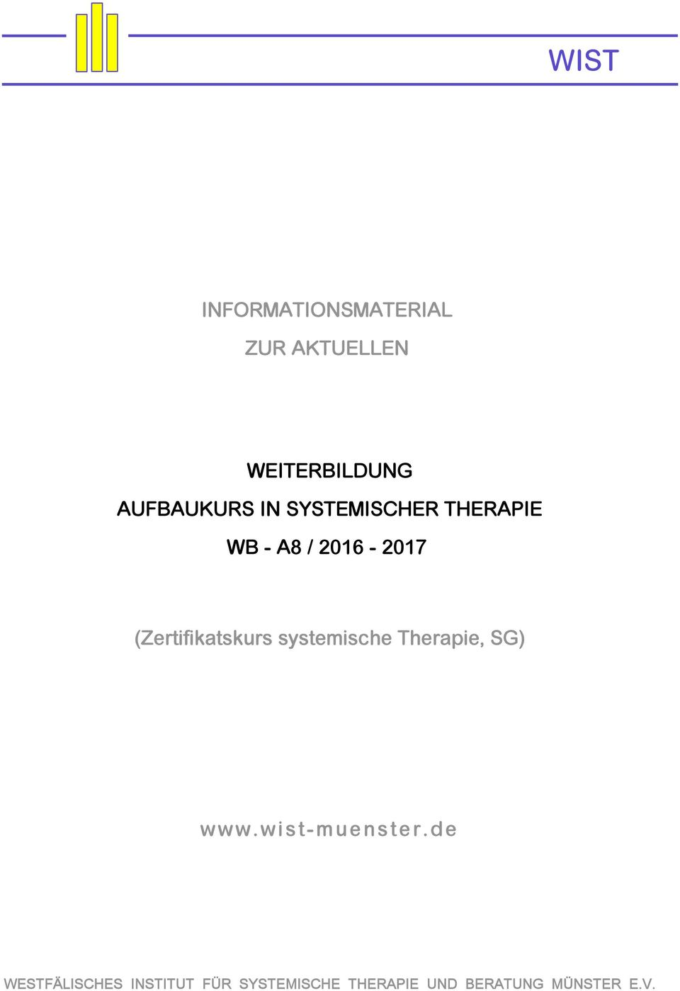 THERAPIE WB - A8 / 2016-2017