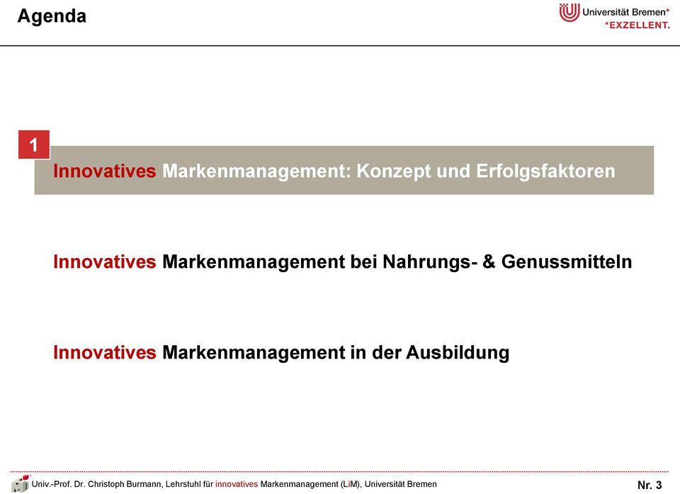 Markenmanagement bei Nahrungs- &