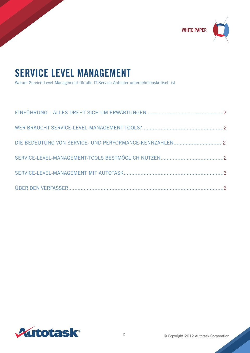 ..2 WER BRAUCHT SERVICE-LEVEL-MANAGEMENT-TOOLS?