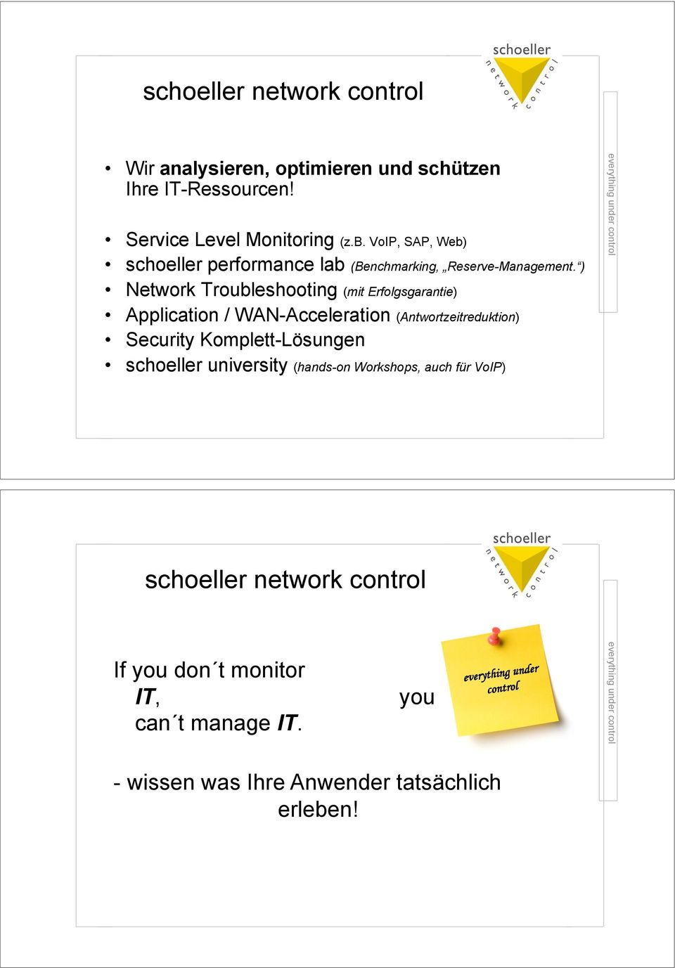 Application / WAN-Acceleration (Antwortzeitreduktion)! Security Komplett-Lösungen!