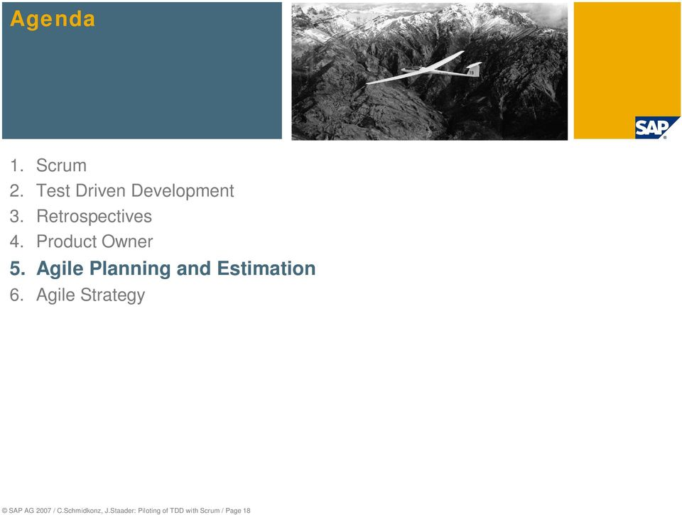 Agile Planning and Estimation 6.