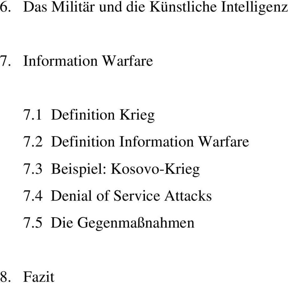 2 Definition Information Warfare 7.