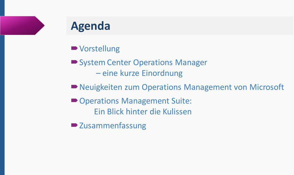 Operations Management von Microsoft Operations