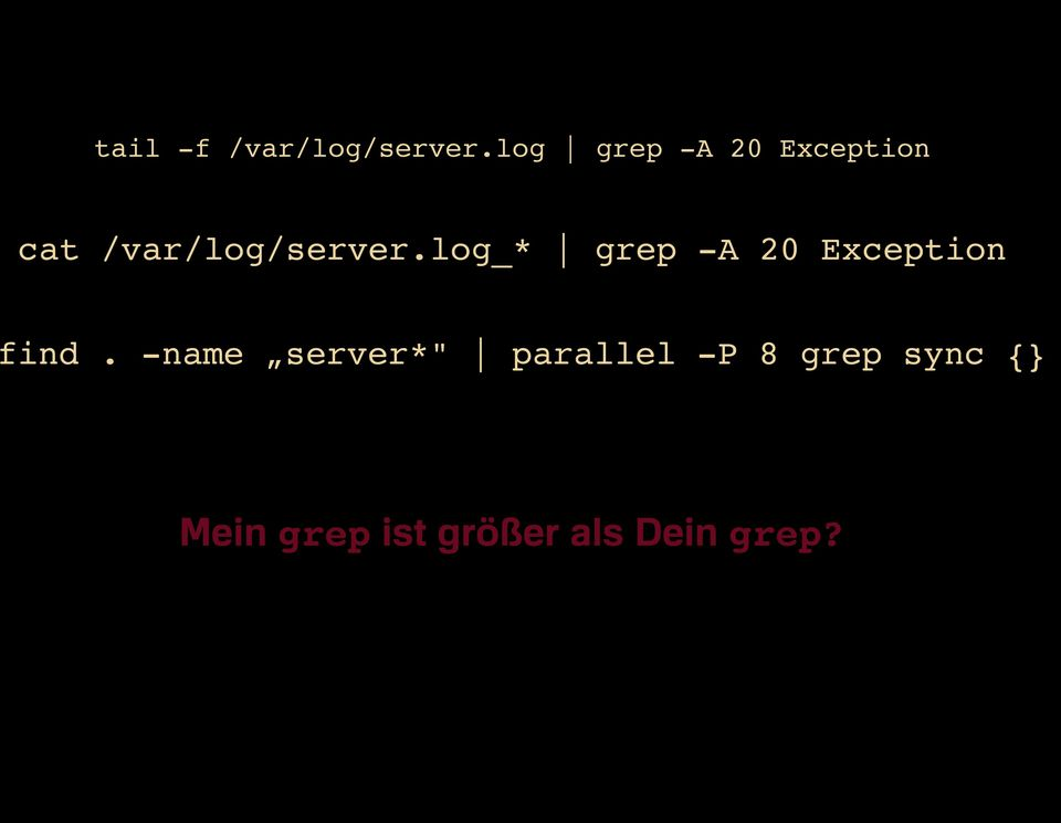 log_* grep -A 20 Exception find.