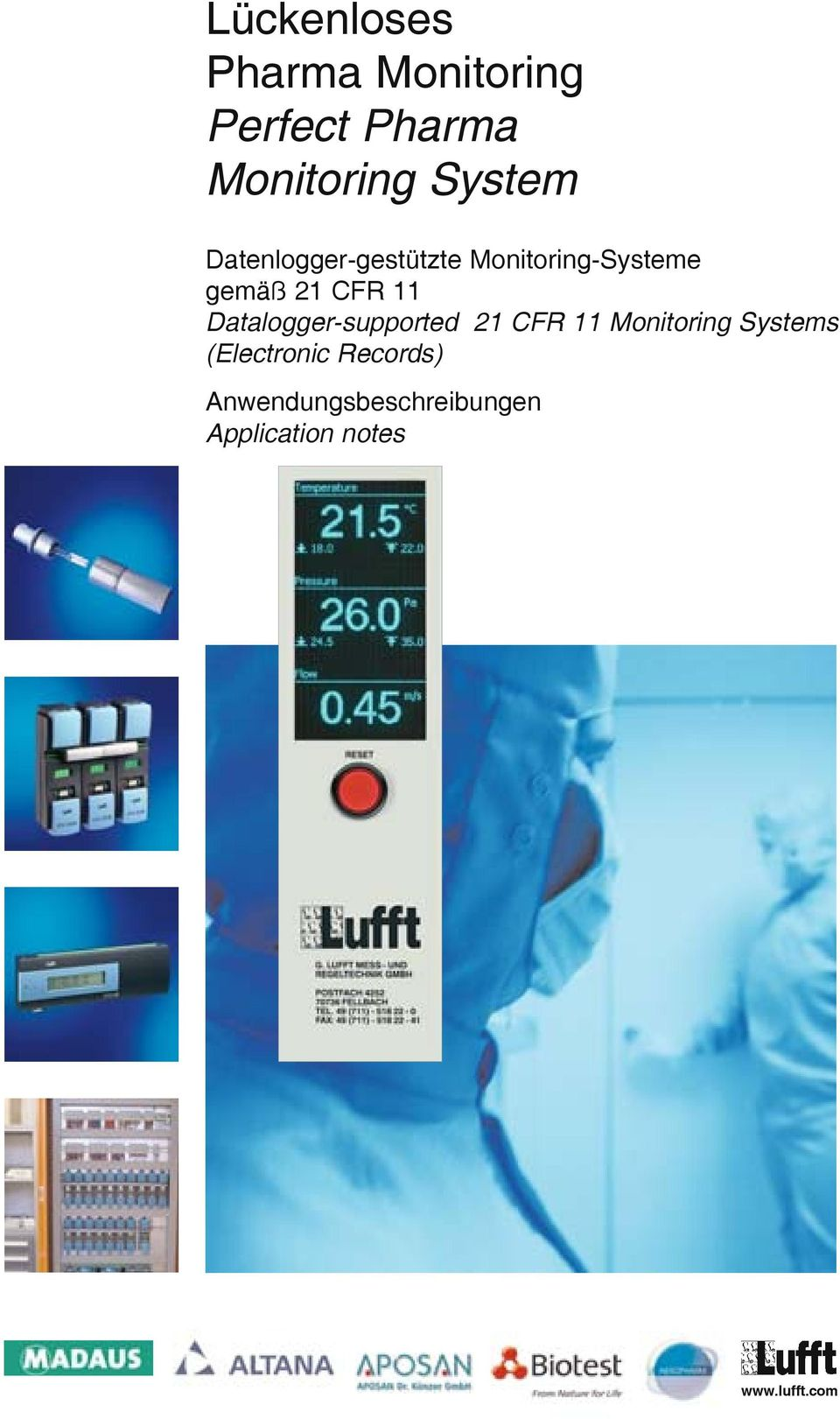 11 Datalogger-supported 21 CFR 11 Monitoring Systems