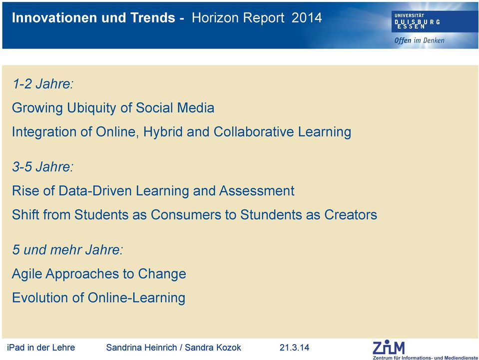 Data-Driven Learning and Assessment Shift from Students as Consumers to Stundents