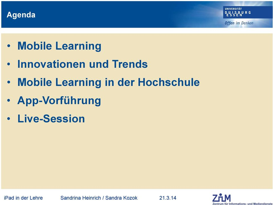 Mobile Learning in der