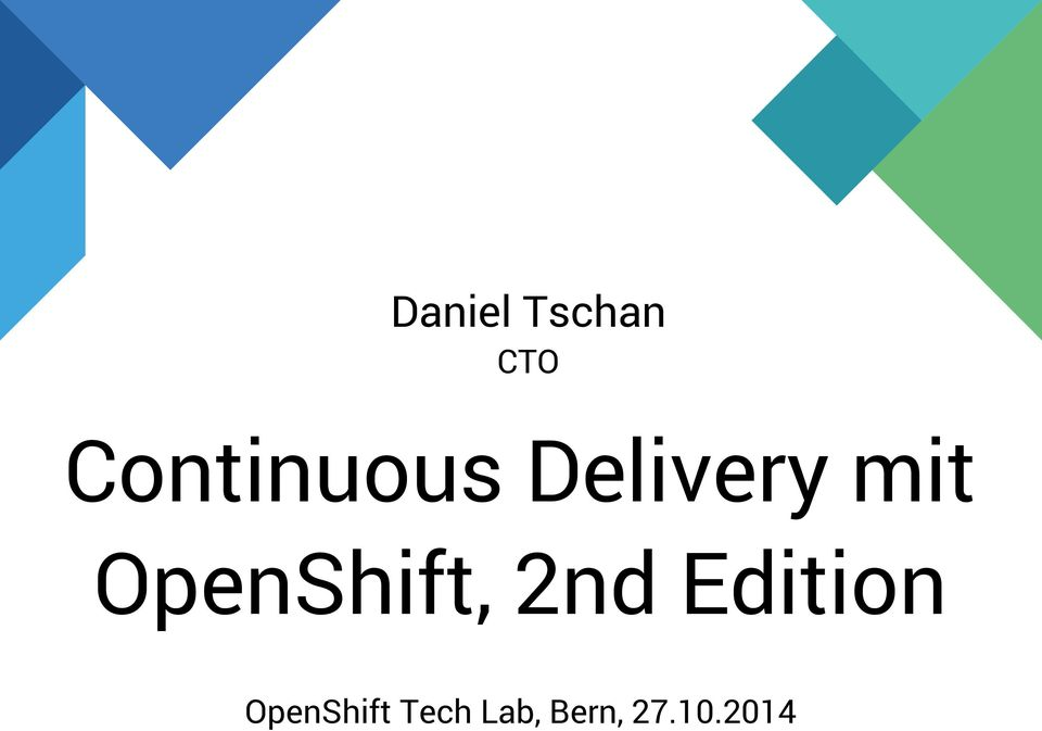 OpenShift, 2nd Edition