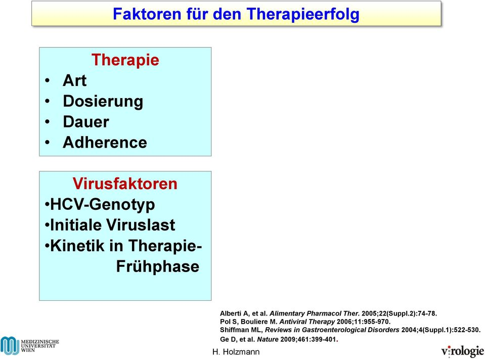 2005;22(Suppl.2):74-78. Pol S, Bouliere M. Antiviral Therapy 2006;11:955-970.