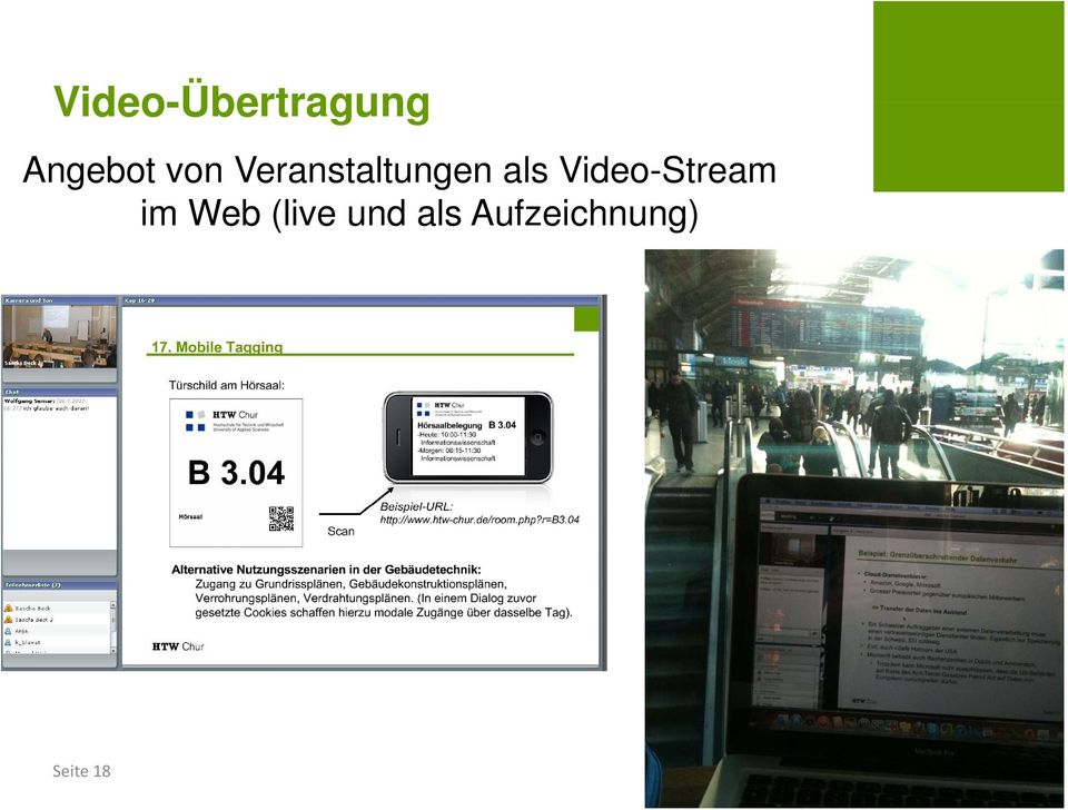 Video-Stream im Web (live