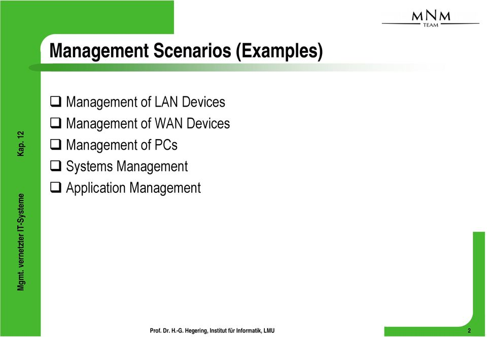 of WAN Devices Management of PCs