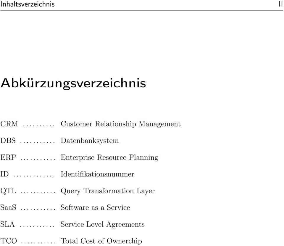 .......... Customer Relationship Management Datenbanksystem Enterprise Resource Planning