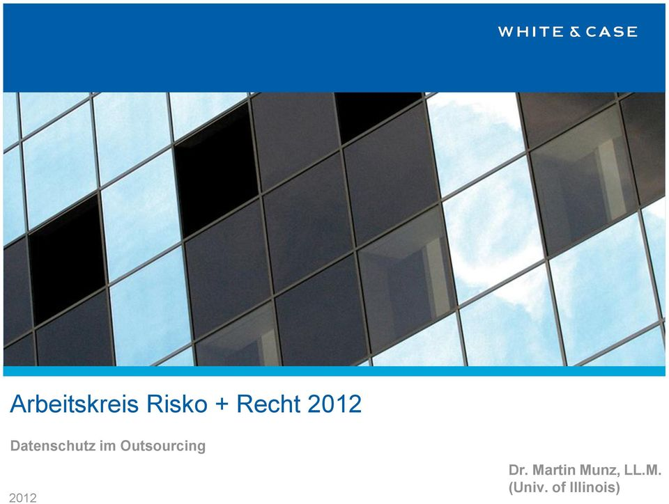 Outsourcing 2012 Dr.