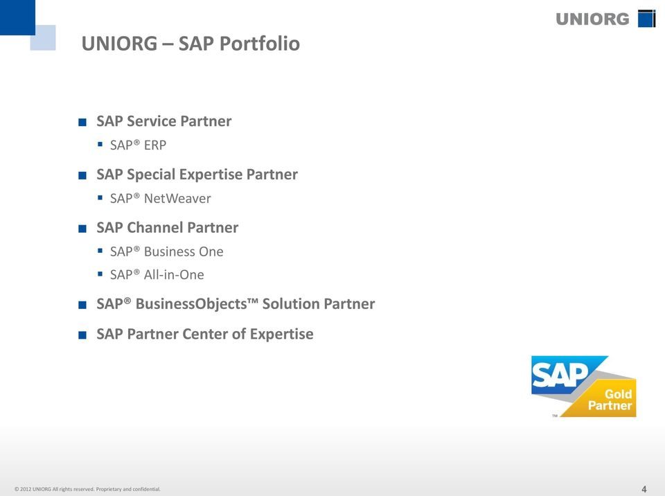 Partner SAP Business One SAP All-in-One SAP