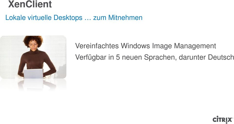 Vereinfachtes Windows Image