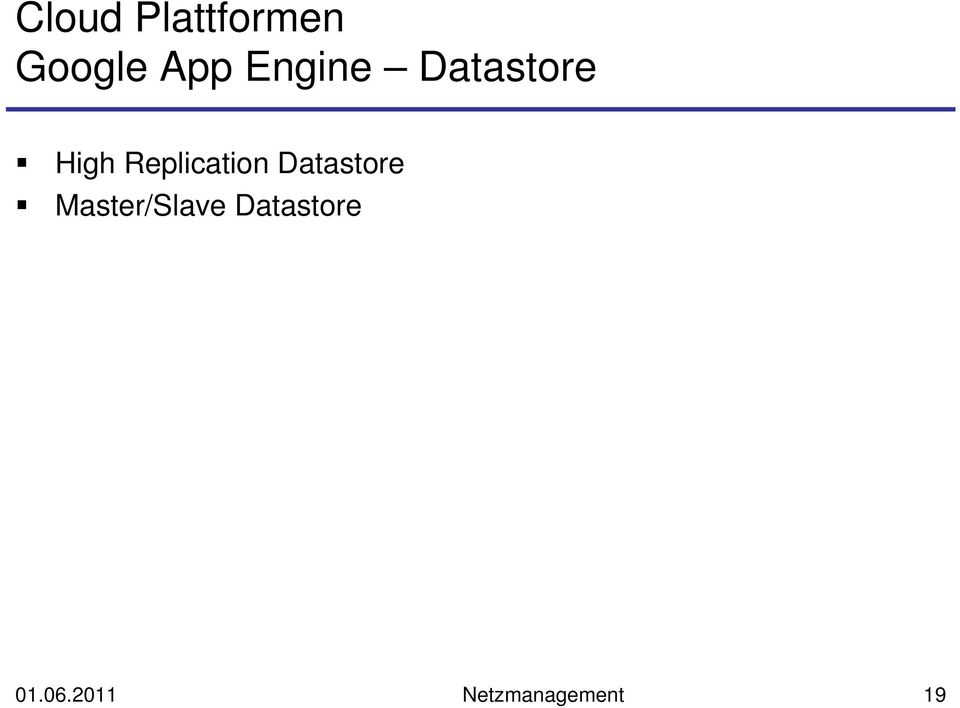 Replication Datastore