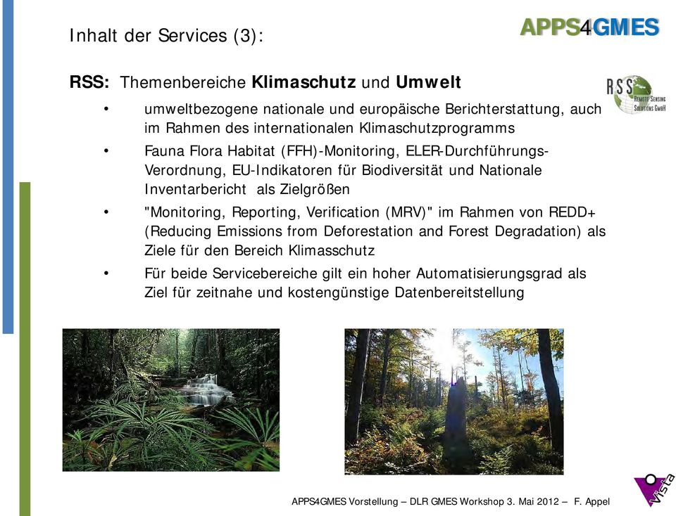 "Inventarbericht als Zielgrößen ""Monitoring, Reporting, Verification (MRV)"" im Rahmen von REDD+ (Reducing Emissions from Deforestation and Forest"