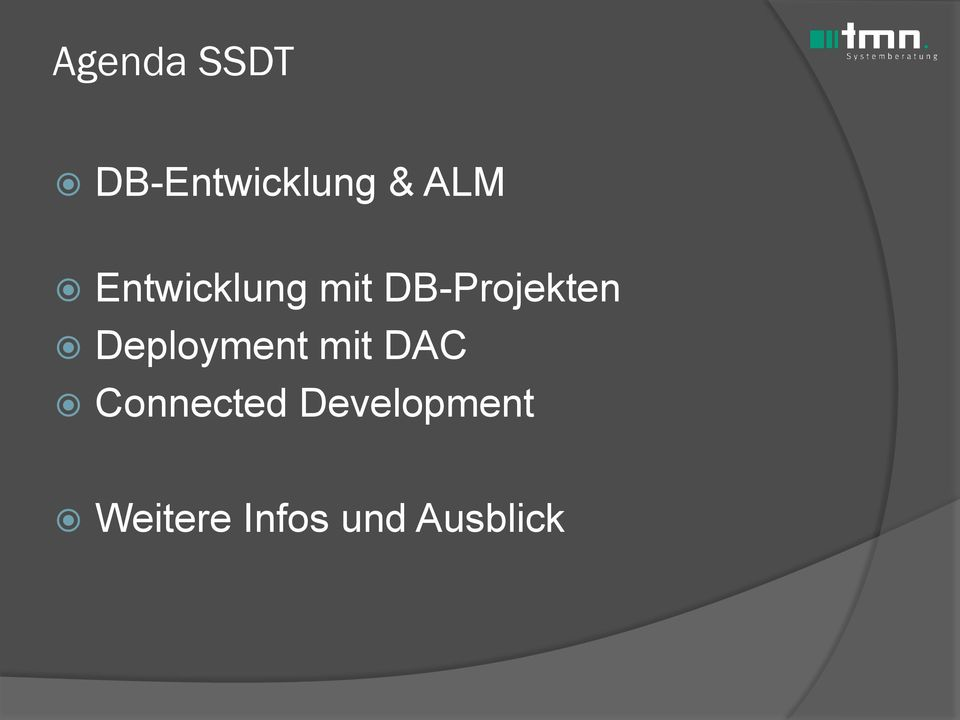 Deployment mit DAC Connected