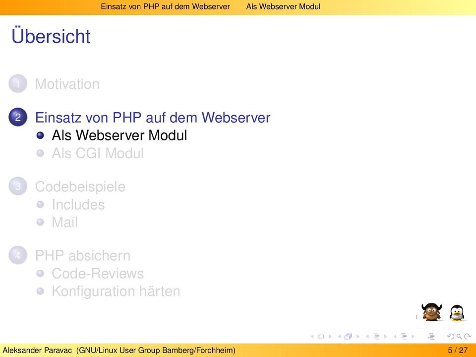 CGI Modul 3 Codebeispiele Includes Mail 4 PHP absichern Code-Reviews