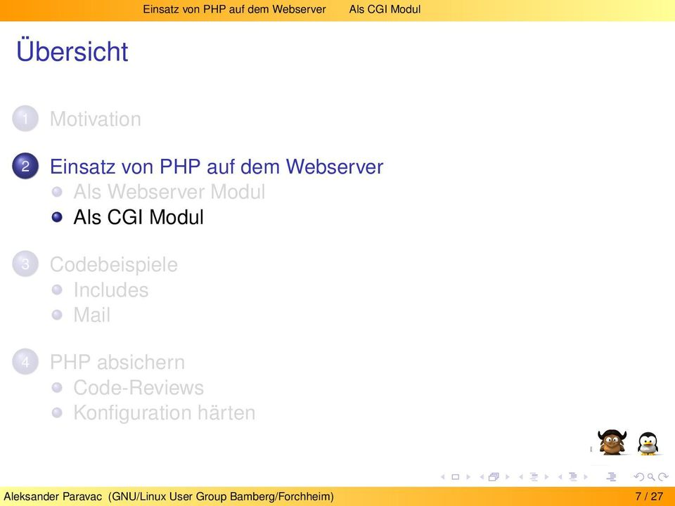 Codebeispiele Includes Mail 4 PHP absichern Code-Reviews Konfiguration