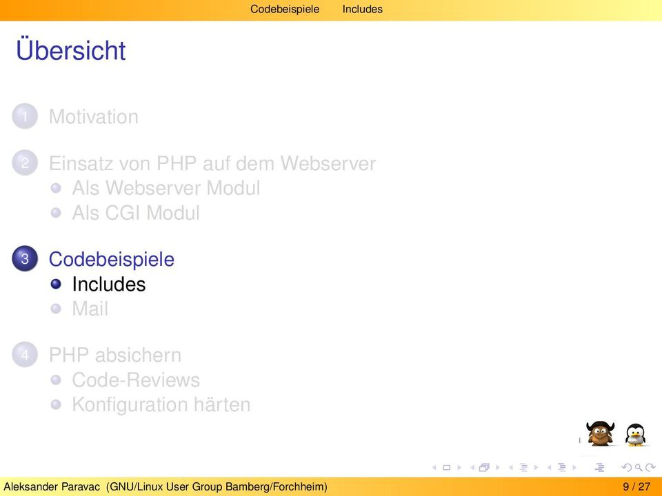 Codebeispiele Includes Mail 4 PHP absichern Code-Reviews
