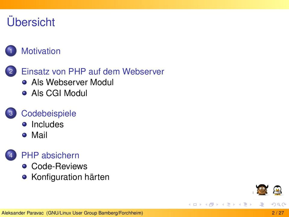 Mail 4 PHP absichern Code-Reviews Konfiguration härten