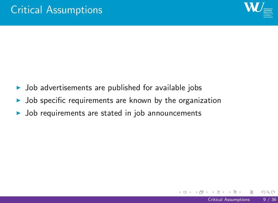 requirements are known by the organization Job