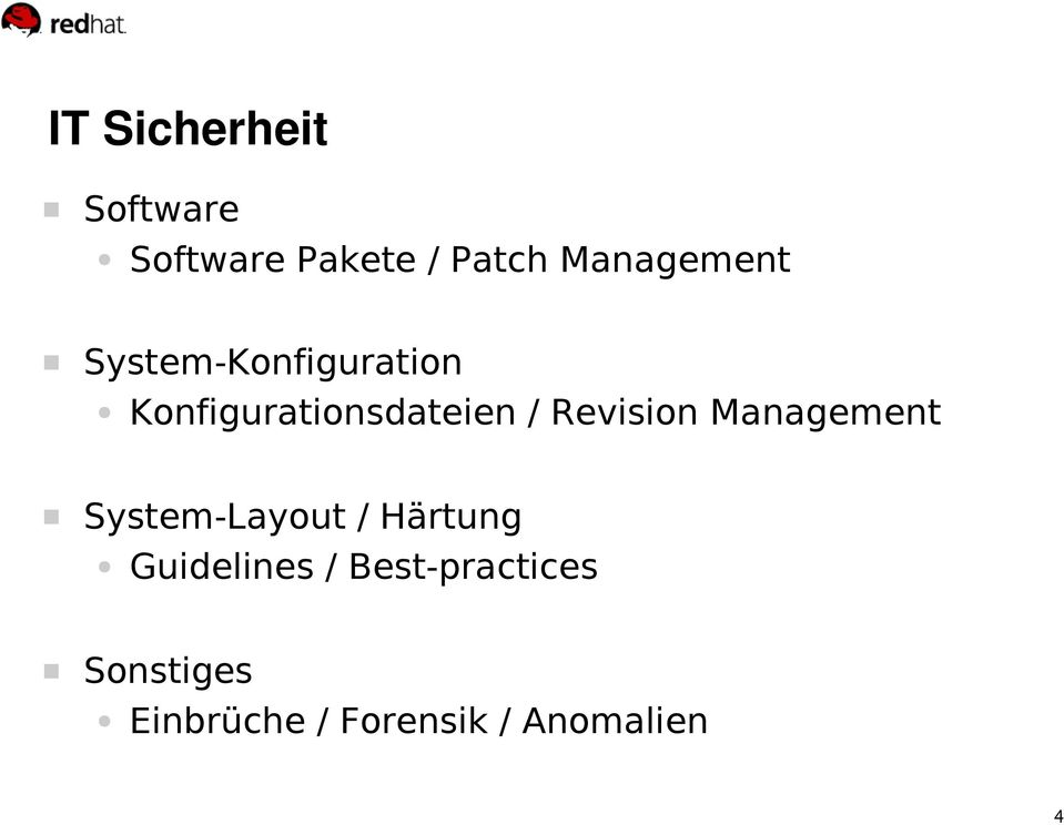 / Revision Management System-Layout / Härtung