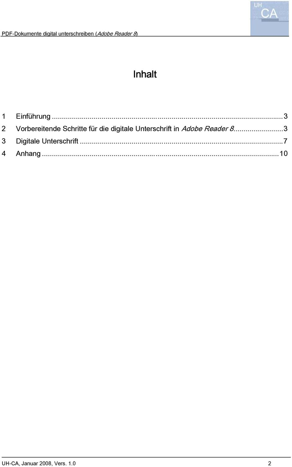digitale Unterschrift in Adobe Reader 8.
