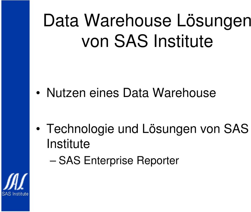 Warehouse Technologie und