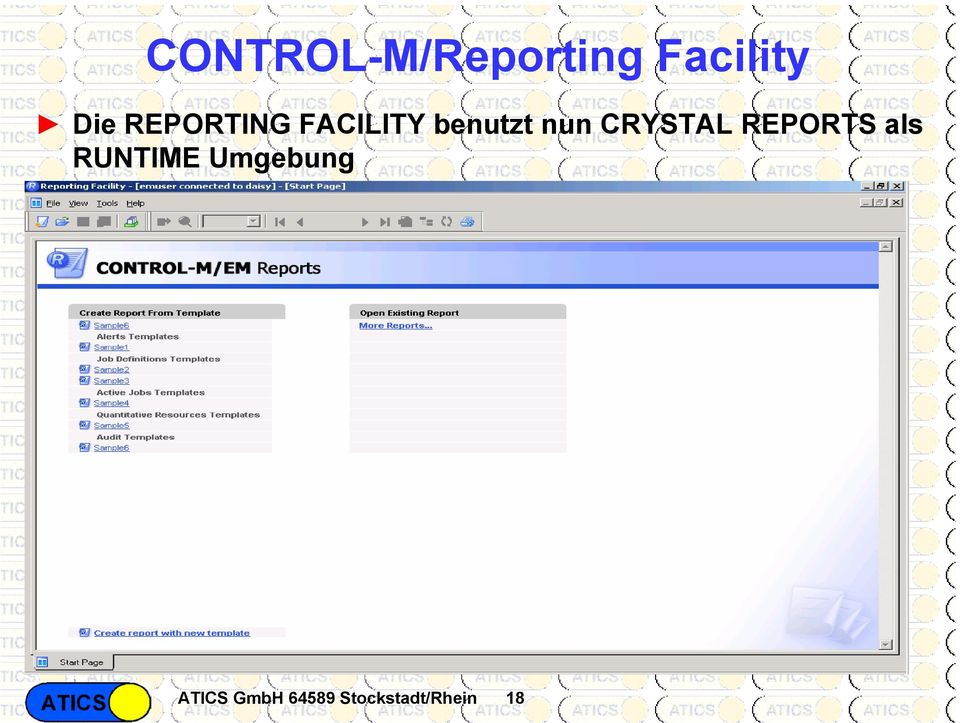 CRYSTAL REPORTS als RUNTIME